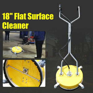 18 Pressure Washer Cold hot Water Flat Surface Concrete Cleaner 4000psi New