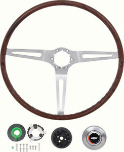 1969 Gm Rosewood 16 Inch Diameter Steering Wheel Kit