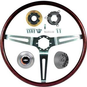 1969 Chevrolet Impala Camaro W tilt Wheel Rosewood Steering Wheel Kit