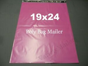 30 Extra Large Pink Poly Bag Mailers 19x24 Big Self sealing Shipping Envelopes