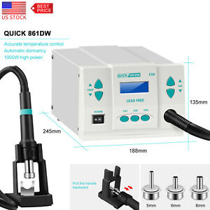 861dw Quick Soldering 110v Lead free Hot Air Gun Digital Rework Station Usa