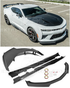 For 16 Up Camaro Ss Refresh Zl1 1le Style Front Lip Side Skirts Rear Spoiler