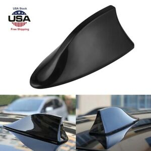 Decor Car Black Shark Fin Roof Antenna Amplifier Radio Signal Fm Am Aerial Cover