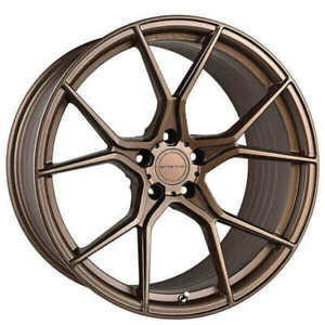 4ea 19 Staggered Stance Wheels Sf07 Satin Bronze Rims S6