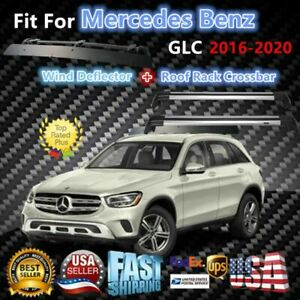 Top Roof Rack Fits Mercedes Benz Glc 2016 2020 Luggage Crossbar wind Deflector