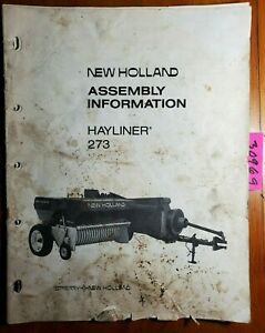 New Holland 273 Hayliner Baler Assembly Manual 41027314 6 73