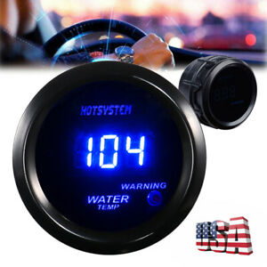 Hotsystem 2 52mm Blue Digital Led Fahrenheit Water Temp Temperature Gauge 2020