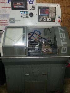 Gt27 Cnc Gang Lathe W Phase Converter And Tooling Used