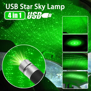 Usb Car Atmosphere Lamp Interior Ambient Star Light Led Projector Starry Sky Us