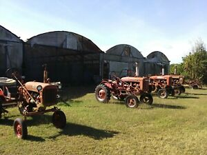 Four Antique Farmall Tractors Plus Implements Good Condition