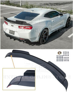 For 16 up Camaro 1le Extended V2 Style Rear Trunk Lid Wing Wickerbill Spoiler