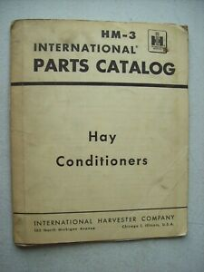 Original International 33 34 Hay Conditioners Parts Catalog Manual Hm 3