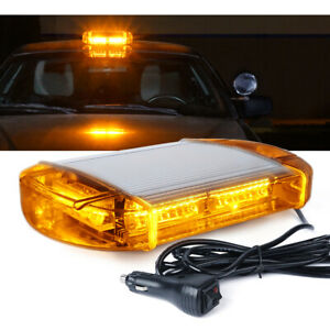 Xprite Amber yellow 40 Led Strobe Light Bar Magnetic Flashing Emergency Warning