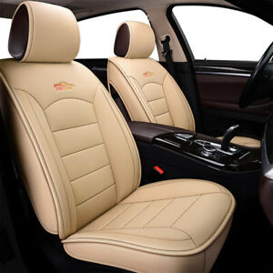 Us Beige Car Leather Seat Covers 5 Seat Front Rear For Honda Accord Civic Cr V