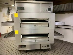 Middleby Marshall Ps360 40 Wow Double Deck Gas Conveyor Pizza Oven Works Great