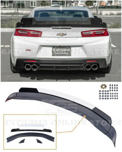 For 16 up Camaro 1le Extended Track Style Rear Trunk Lid Wing Wickerbill Spoiler