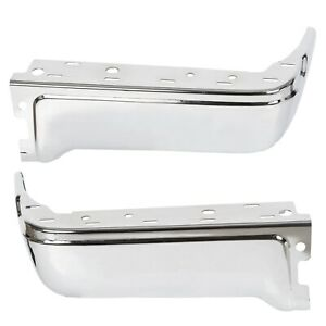 Chrome Driver Passenger Rear Bumper End Face Bar For 09 14 Ford F150 Styleside