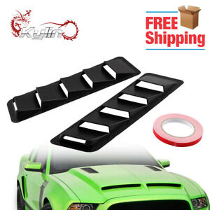 2pcs Universal Car Hood Vent Louver Scoop Cover Air Flow Intake For Ford Honda