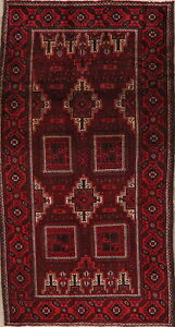 Vintage Balouch Afghan Oriental Area Rug Wool Hand Knotted Home Decor Carpet 4x8