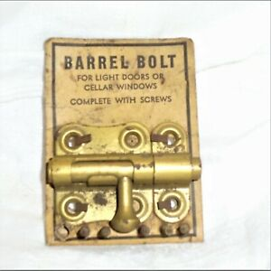 Vintage Barrel Bolt Slide Bolt Door Lock Nos Windows Doors Cellar Gates Cabinets