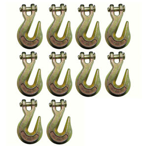 10 G70 3 8 Clevis Grab Hooks For Wrecker Tow Chain Flatbed Trailer Tie Down
