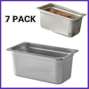 7 Pack 1 3 Size 6 Deep Stainless Steel Steam Table Hotel Pan