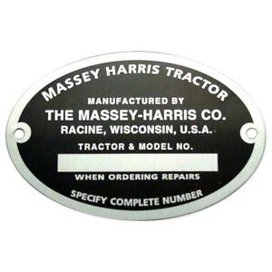Serial Number Tag For 22 30 30 44 55 101 102 Sr Jr Mustang Fits Massey Harris 0
