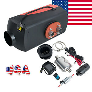 Usa 12v 5kw Diesel Fuel Air Heater Lcd Switch Remote Monitor For Car Truck Boat