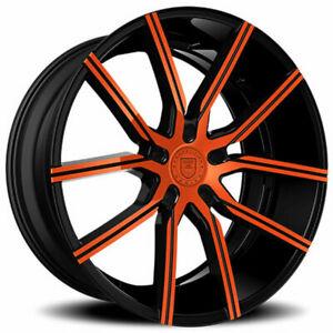4ea 24 Lexani Wheels Gravity Custom Color Rims s11