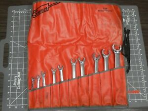 Snap On Tools 10pc Sae Flare Nut Line Wrench Set 1 4 1 1 8 Rxfs Rxfs2836b Nice
