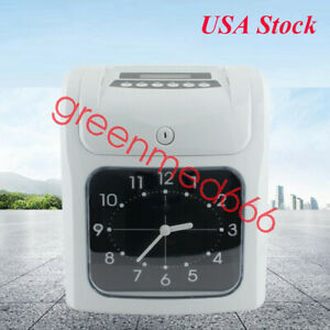 Automatic Electronic Employee Time Attendance Recorder Office Clock With Cards