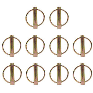 Set Of 10 7 16 Implement Lynch Pins Fits Three point Tractor Hitches