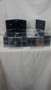 Lot Of 50 Used Standard Cd Empty Jewel Cases 10 4 Standard Sized Cases W trays