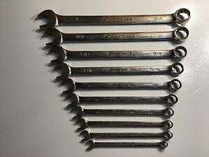 Snap On 10 Pc 12 Point Sae Flank Drive Plus Standard Wrench Set 1 4 3 4