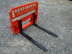 48 4 000 Pound Extreme Duty Pallet Forks Attachment Fits Kubota Quick Attach