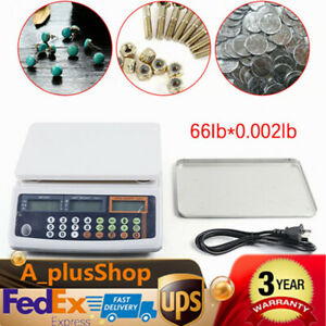 Digital Parts Coin Precise Counting Scale 66lb X 0 002 Lb Usa Stock