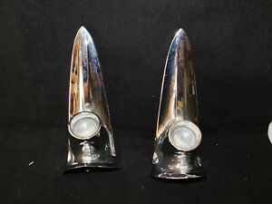 1961 Chrysler Back Up Lights W Trim Bezels Used Nice Driver Condition