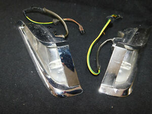 1961 Chrysler Front Parking Lights W Trim Bezels Used Nice Driver Condition