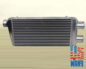 Universal Twin Turbo Intercooler 2 In 1 Out 32 X 12 X 3 Front Mount Aluminum