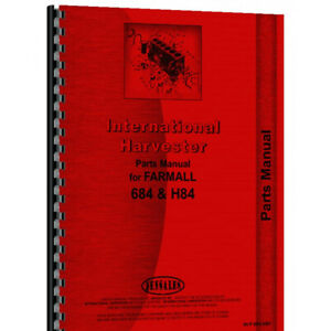 Parts Manual Made Fits Case ih International Tractor Model 684