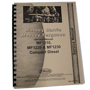 Service Manual For Massey Ferguson 1210 Compact Tractor