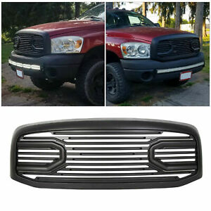 For 06 09 Dodge Ram 2500 3500 Front Hood Black Big Horn Grille Replacement Shell