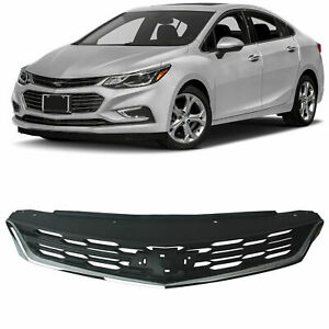 For 2016 2017 2018 Chevrolet Cruze Sedan Black Front Bumper Upper Middle Grille