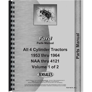 New Parts Manual Fits Ford 600 Tractor