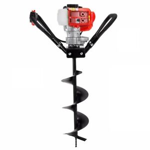 Xtremepowerus 43cc Gas Posthole Digger One Man Fence Hole Auger W 8 Inch Bit