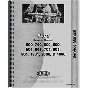 Tractor Service Manual For Fo s 600 700 Ford 640
