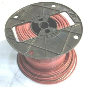 Red 12 Awg Thhn Stranded Wire 7 6 Lb Spool Nos