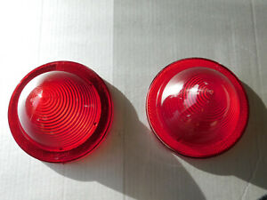 1959 Buick Le Sabre Invicta Electra Pair Of Two Tail Light Lenses Used