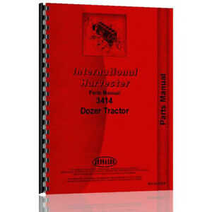 New Parts Manual For International Harvester 3414 Ind Wheel Tractor