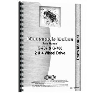 New Parts Manual For Minneapolis Moline G707 Tractor